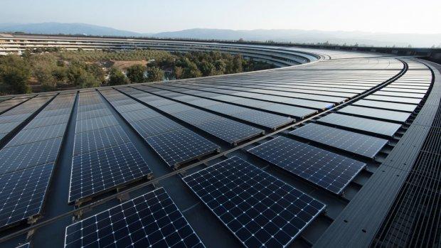 Grote Apple-fabrikanten gebruiken 100 procent schone energie