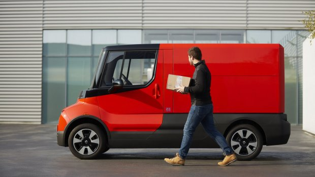 Dit busje van Renault bezorgt je pakje klimaatneutraal