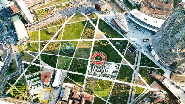 Spectaculair park boven infrastructuur