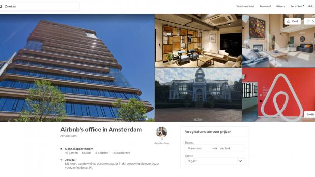 Stunt: SP zet Amsterdamse kantoor Airbnb te huur op Airbnb