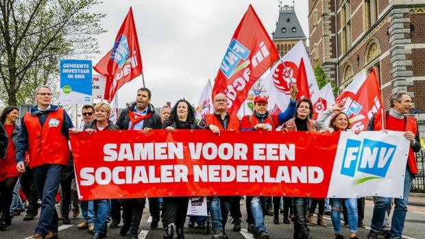 Vakbond FNV trekt eigen reorganisatieplan in na protesten