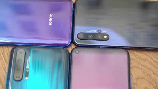 Nieuwe Honor-telefoons hebben vier camera's achterop