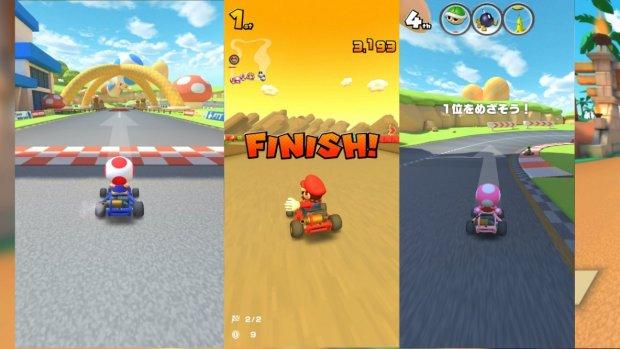 Eerste beelden Mario Kart voor smartphones gelekt