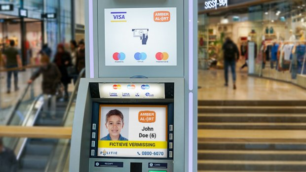 Extra hulp bij vermist kind: Amber Alerts ook op pinautomaten
