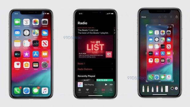 Donkere modus iOS 13 te zien op screenshots