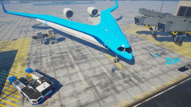 KLM en TU Delft bouwen opvallend vliegtuig in v-vorm