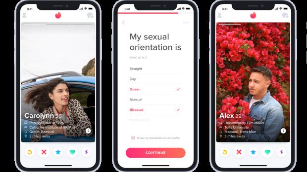 Tinder-gebruikers kunnen seksuele voorkeur op profiel zetten