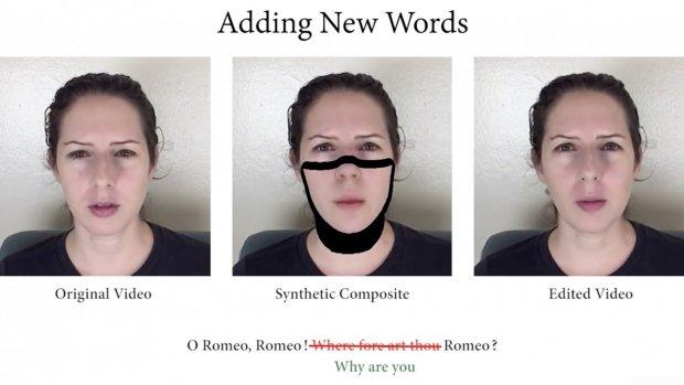 Deepfake-technologie laat je video's al typend aanpassen