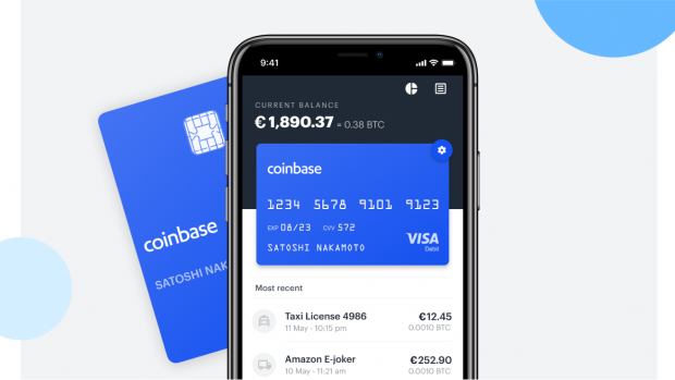 Coinbase komt met betaalpas voor cryptomunten