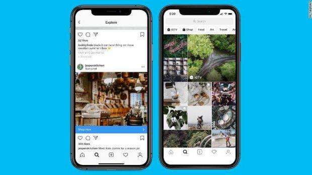 Instagram test verdubbeling aantal reclames in Stories