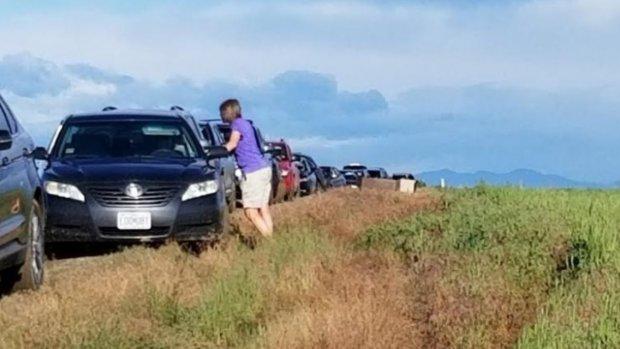 Honderd automobilisten in weiland na volgen 'binnendoorweg' VS