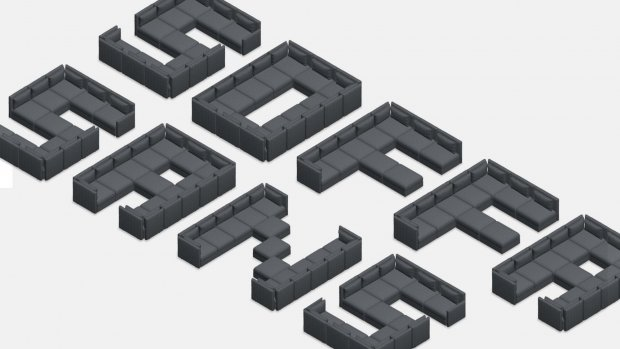 Creatief: IKEA maakt lettertype van banken