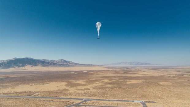 Google-zusterbedrijf test internetballonnen in Kenia