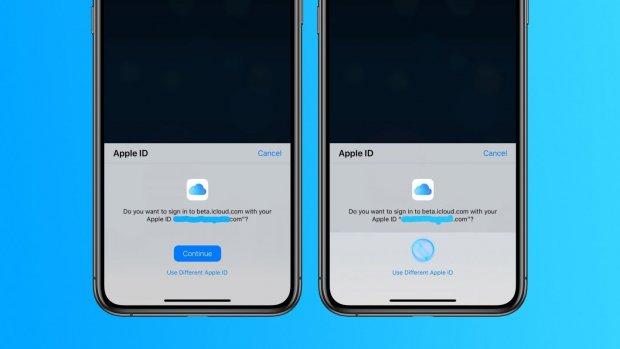Apple test inloggen op iCloud met gezichts- of vingerafdrukscan