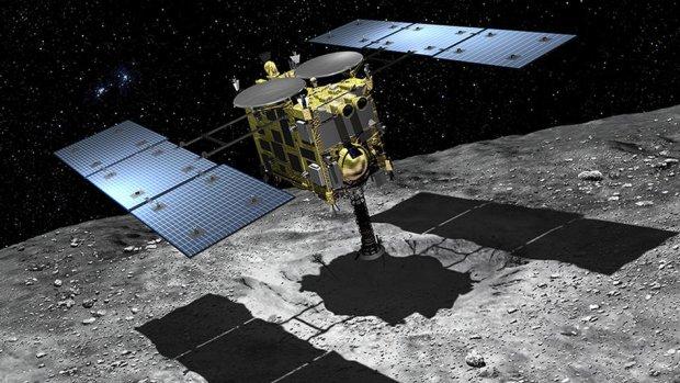 Japanse sonde weer geland op asteroïde
