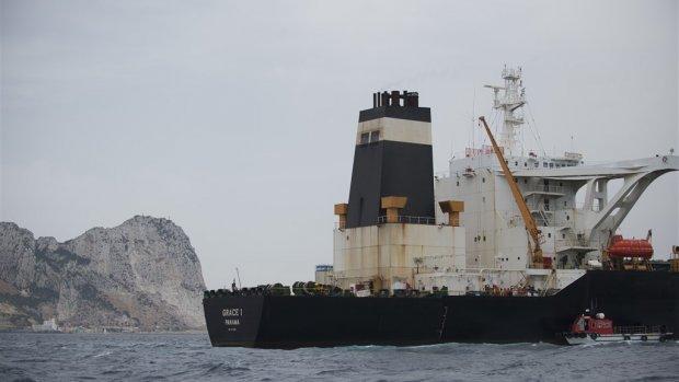 Britten laten Iraanse tanker die bij Gibraltar ligt gaan