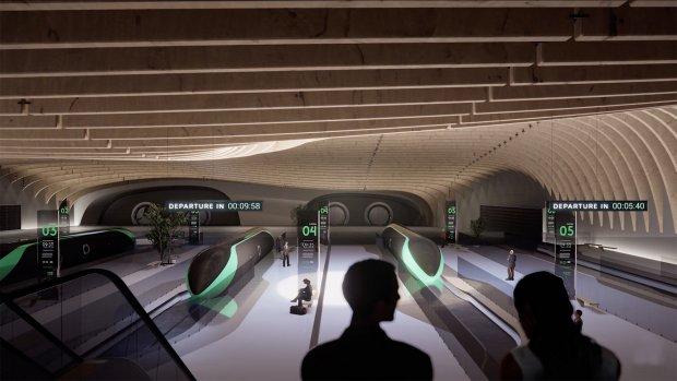 Zo kan een centraal station voor de hyperloop eruit zien