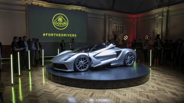 Lotus komt met elektrische sportwagen: Evija