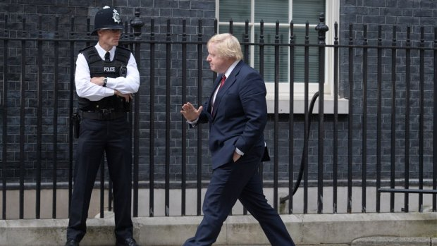 Boris Johnson: charmante 'wiffle-waffle' in Downing Street 10