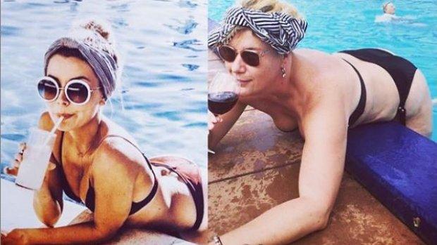 Karien (42) wurmt zich op Instagram in onmogelijke poses