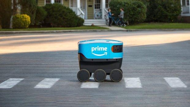 Bezorgrobot van Amazon gaat nu echt pakjes bezorgen