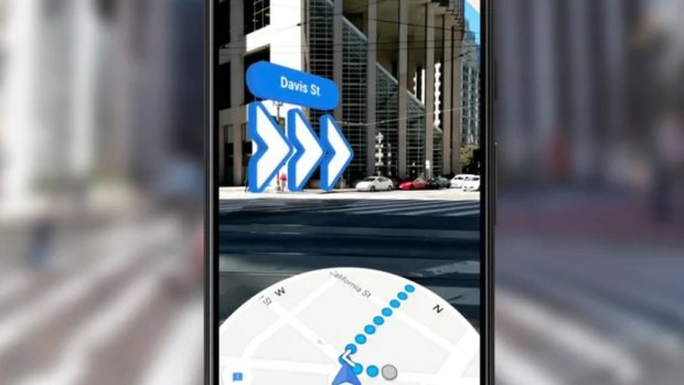 Google voegt routes in augmented reality toe aan Maps