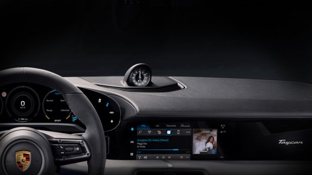 Elektrische Porsche Taycan heeft Apple Music ingebouwd
