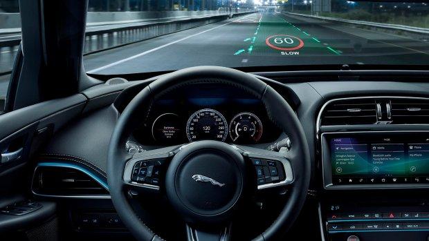 Jaguar Land Rover werkt aan head-up display met 3D