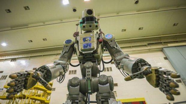 Voor het eerst een Russische humanoïde robot naar het ISS