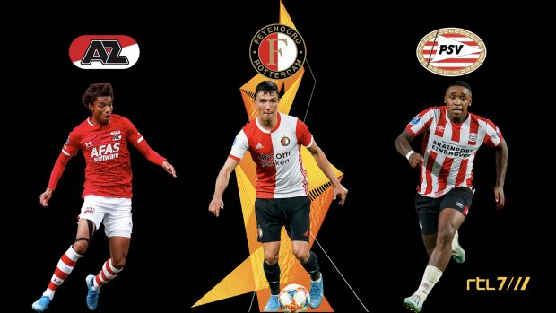 Bekijk het Europa League-avontuur van AZ, Feyenoord en PSV bij RTL 7