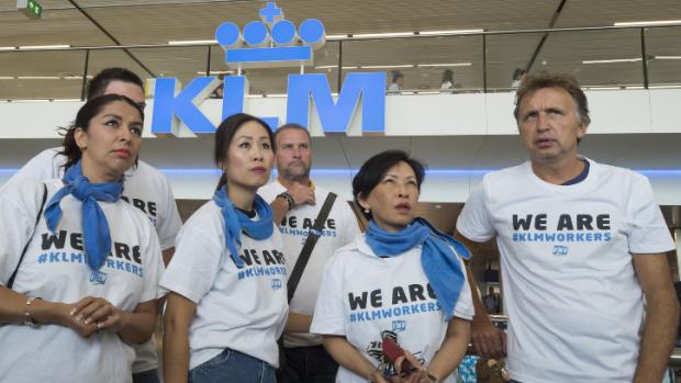 Grondpersoneel KLM gaat opnieuw staken