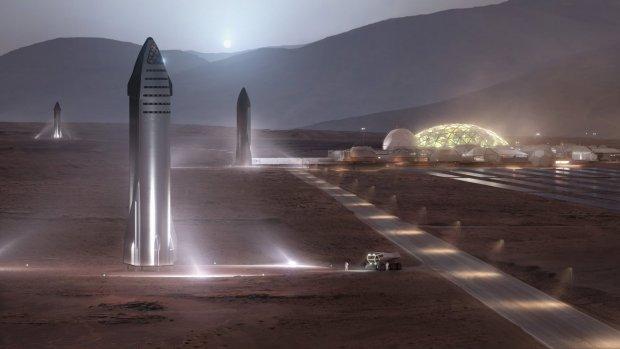 SpaceX wil met nieuw ruimteschip steden op Mars kunnen bouwen