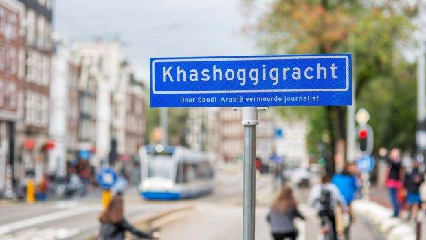 Amnesty vernoemt straat Saoedische ambassade naar vermoorde Khashoggi