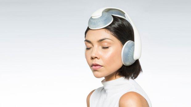 Deze koptelefoon werkt met vloeistof