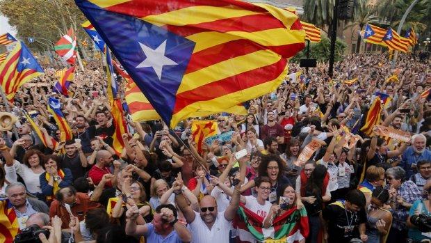 Celstraffen voor uitroepen Catalaanse onafhankelijkheid
