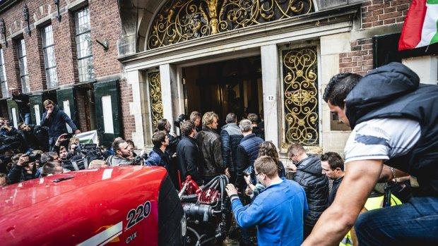 Aanhoudingen vanwege onrust bij boerenprotest Groningen