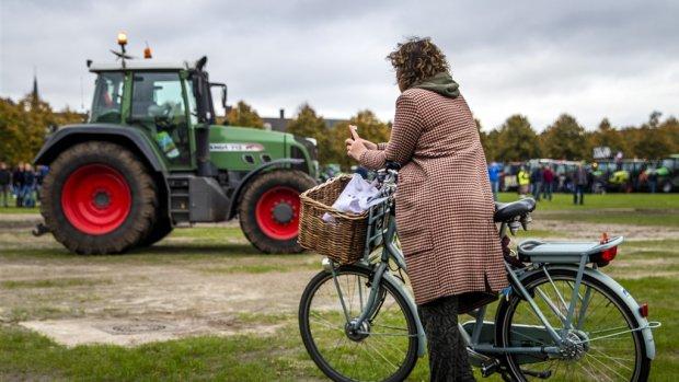 Actievoerders keren huiswaarts, boerenprotest Den Haag zit erop