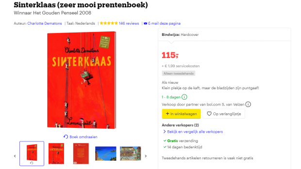 'Racistisch' Sinterklaasboek wordt kostbaar collector's item