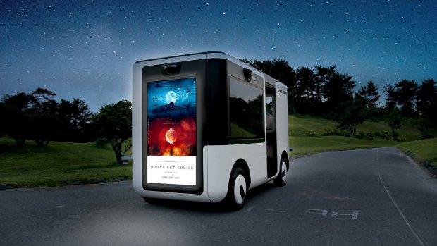 Deze mini-bus van Sony heeft schermen in plaats van ramen