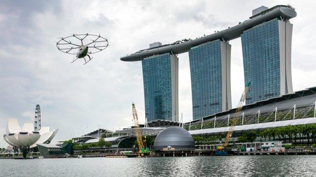Eerste bemande vlucht voor 'drone-taxi' Volocopter
