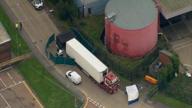 39 doden gevonden in container op vrachtwagen in Engeland