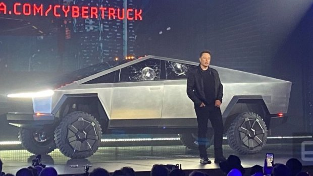 Tesla presenteert elektrische pick-up Cybertruck