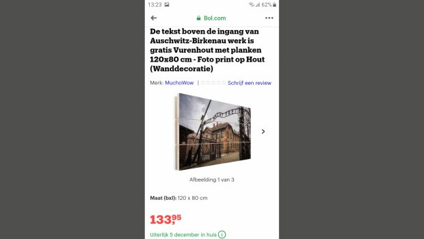 Zo kwam een Auschwitz-schilderij op Bol.com terecht
