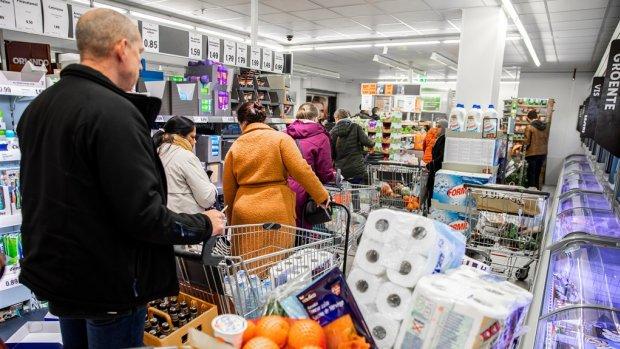 Hamsterwoede bij consument zorgt voor recordomzet supermarkten