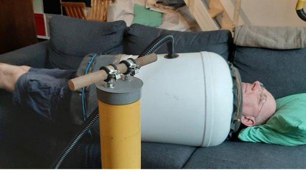 Techneut bouwt ijzeren long voor beademing