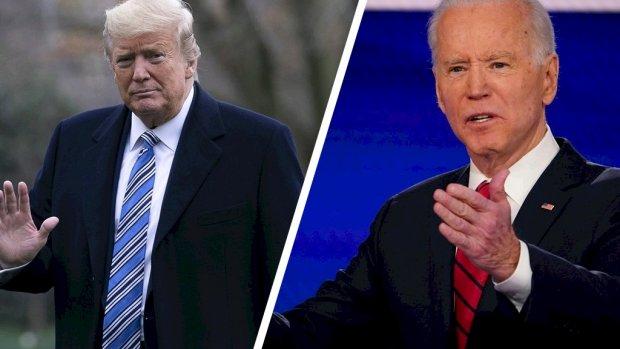 Peiling voorspelt nek-aan-nekrace tussen Trump en Biden
