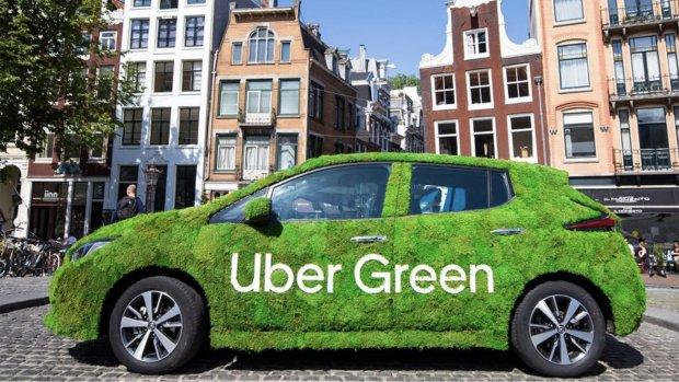 Uber wil in 2025 zonder schadelijke uitstoot rijden in Amsterdam