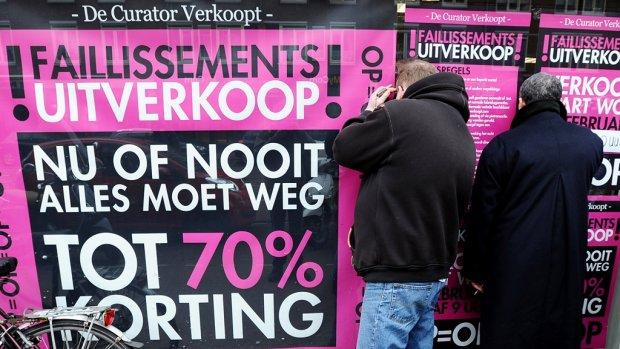 'In Nederland zijn de minste faillissementen van Europa'