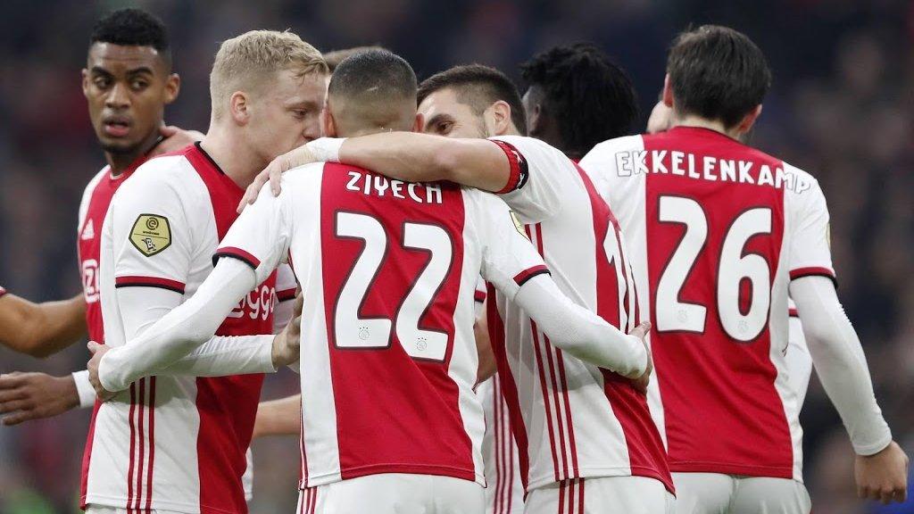 Ajax Verslaat Ado Den Haag Met 6 1 Rtl Nieuws