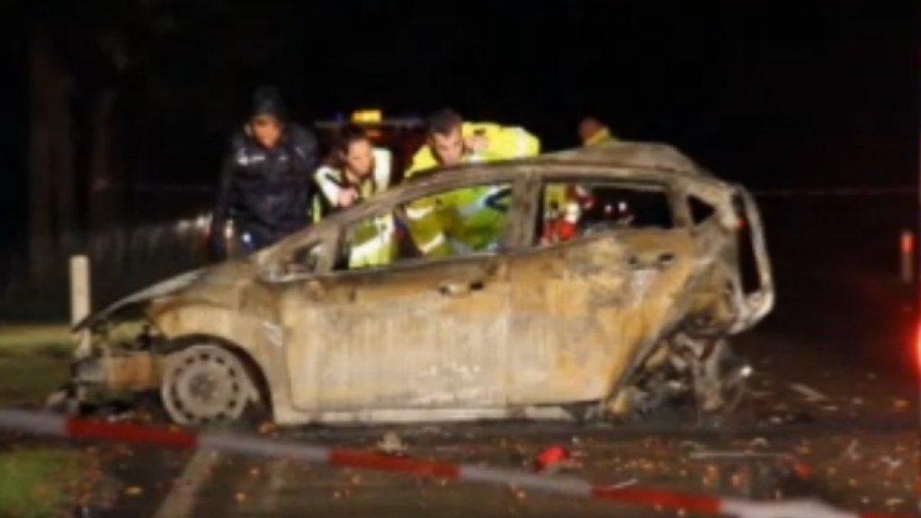 Een heftige foto van het ongeluk in Chaam.